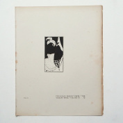 """Aubrey Beardsley - Antique Print - Title-Page Design. From """"The Yellow Book"""" Volume 3."""