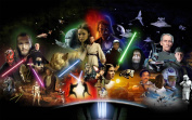 Star Wars Collage Movie Canvas Print Framed Canvas Print 80cm x 50cm