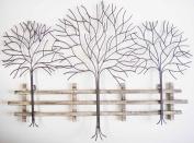 Wall Art - Metal Wall Art Picture - Winter Tree Scene