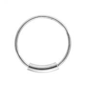 Blue Banana Body Piercing - Silver 1mm Eyebrow Lip Cartilage Earring BCR Cylinder Closure Hoop Ring