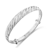 JMT 1 PCS 925 Sterling Silver Fashion meteor showers jewellery bangle bracelet Best gift for Woman lady