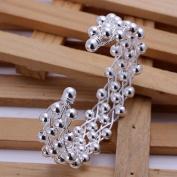 Lingstar(TM) New Fashion Jewellery Classic Knot 925 New Gift Women Lady solid Silver Bracelet Bangle YDHZ06