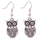 Owl Latticed Patterned Earrings