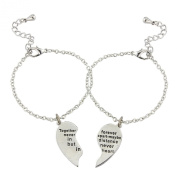 Bracelet for friendships/relationships split by distance, 2 beautiful bracelet's to link friends, includes 2 gift bags