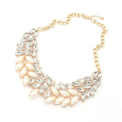 Ukamshop Best Price Lady Fashion Pearl Rhinestone Crystal Chunky Collar Statement Necklace