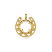 Jewelco London 9ct Solid Gold casted full-size Horseshoe design Sovereign coin pendant mount
