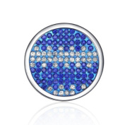 Interchangeable Coin for Interchangeable Pendant Necklace -Blue & White -