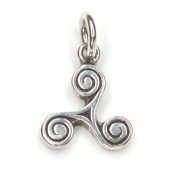 Triskelion Pendant 925 Sterling Silver Jewellery, Measure