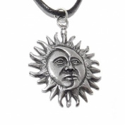 Sun and Moon Eclipse Pagan Pendant / Necklace