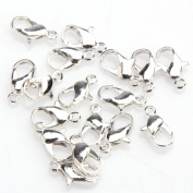 ILOVEDIY 7x12mm Silver Plated Lobster Parrot Claw Clasps Pack of 20pcs