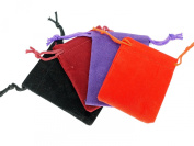 Small Velvet Pouches with Drawstring for Jewellery Gift Bags (5x7cm) - Pack of 12