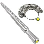 TRIXES Ring Sizer Mandrel Finger Gauge Jewellery Kit Tool Engagement Sizer