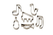 Set of 6 Music themed Cookie Cutters