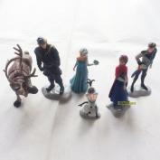 Frozen Cake Decoration Toppers Figures Toy Playset Doll Complete Set _ Anna Elsa Kristoff Olaf Hans Sven