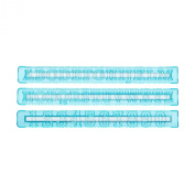 Tala Alphabet and Number Icing Stencil, Blue