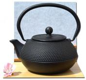 Tetsubin Japanese style Cast Iron black hobnail teapot kettle 0.6 litre