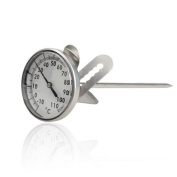 Vktech Kitchen Home Stainless Steel Milk Espresso Coffee Frothing Thermometer