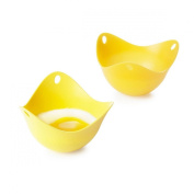 Yellow Poachpod Silicone Egg Poachers x 2
