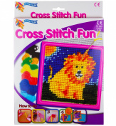 Cross Stitch Embroidery Sewing Art Set Childrens Kids Craft Kit
