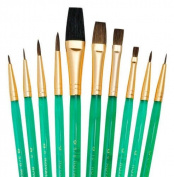 Quality Brush Sets Of 10 Artist Paint Brushes Oil Watercolour Sable & Acrylic