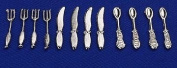 12th Scale Dolls House Accessory - 12 Piece Cutlery Set S10221