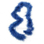 Navy Blue Soft Marabout Feather Boa Trim