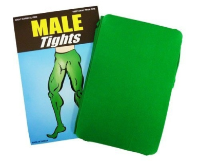 Green Male Tights Mens Tights - Robin Hood Pantomime Fancy Dress