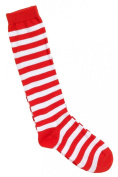 Red & White Stripe Socks Clown Circus Fancy Dress Wheres Wally