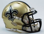 OFFICIAL NFL NEW ORLEANS SAINTS MINI SPEED AMERICAN FOOTBALL HELMET BY RIDDELL