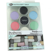 Colorfin PanPastel Pearlescent and Mediums Artist Pastels Set, 10-Pack