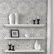 J BOUTIQUE STENCILS Wall Lace Decorative Stencil Madalyn Allover Reusable for DIY Wall Decor