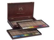 Caran d'Ache Set of 84 Pastel Pencils in a Wood Box