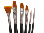 Art Paintbrush Set for Oil, Acrylic, Watercolour, Gouche Painting. Best Art Tools for Professional, Beginners and Students. Quality Paintbrushes made of nylon hair, seamless aluminium ferrule and long wooden handle. Comprehensive Paint Brushes Set