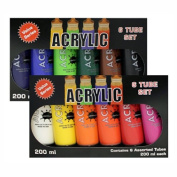 Hyatt's Acrylic 12 Tube 200Ml Set