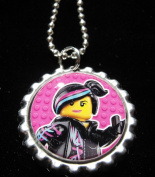 1 THE LEGO MOVIE WYLDSTYLE Bottle Cap NECKLACE for Birthday Party Favour FLAT128