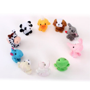 10pcs/lot Baby Plush Toy,finger Puppets,talking Props,finger Doll,baby Dolls,baby Toys,animal Doll,cartoon
