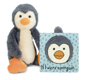 Jellycat® If I were a Penguin Baby Touch and Feel Book and Bashful Penguin Stuffed Animal Bundle