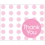 Creative Converting Baby Shower Pastel Pink Dots 8 Count Thank You Cards