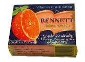 BENNETT Brand Vitamin C & E Orange Soap Natural Extracts