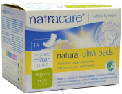 Natracare - Organic Cotton Natural Feminine Ultra Pads Regular with Wings - 14 Pad