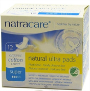 Natracare - Organic Cotton Natural Feminine Ultra Pads Super with Wings - 12 Pad