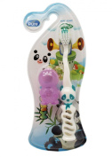 Small Green All Pure Kids Panda Toothbrush with Travel Cap