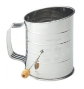 Mrs. Anderson's Baking Flour Sifter, 3-cup, Stainless Steel Crank