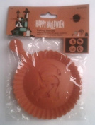 4 Halloween Baking Stencils for Cupcakes and Cookies - Pumpkin - Witch - Cat - Bat