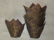 Tulip Baking Cup Brown and Gold appx. 100 ct.
