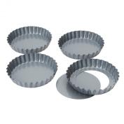 "Baker's Pride 12cm/5"" Loose base quiche/tart pan, set of 4"