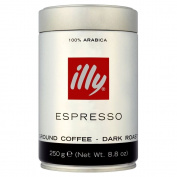 Illy Espresso Caffe Macinato Dark Ground Roasted Coffee