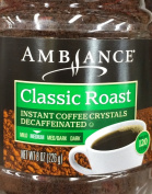 One - 240ml Ambiance Instant Coffee Crystals Decaffeinated, Classic Roast, Medium, Makes 120 Cups