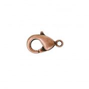 30g About 30pcs Zinc Alloy Antique Copper Lobster Claw Clasp Size14x7x3.5mm