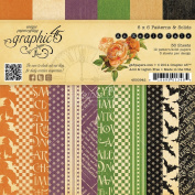 Graphic 45 An Eerie Tale Patterns and Solids Paper Crafting Pad, 15cm by 15cm